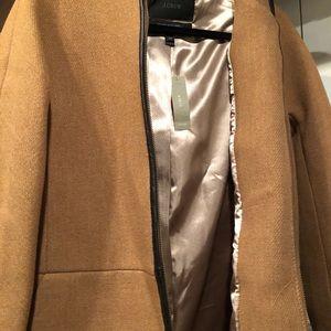 J Crew Stadium Cloth Hooded Zip Coat - NWT - 4P